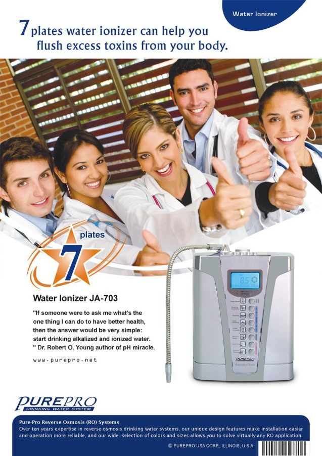 purepro174 kangen water ionizer ja703